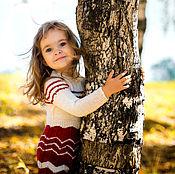"""Работы для детей, ручной работы. Ярмарка Мастеров - ручная работа Вязаное платье """"Зимняя вишня"""". Handmade."""