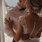 Платья ручной работы. Ярмарка Мастеров - ручная работа Свадебное платье с открытой спиной. Handmade.