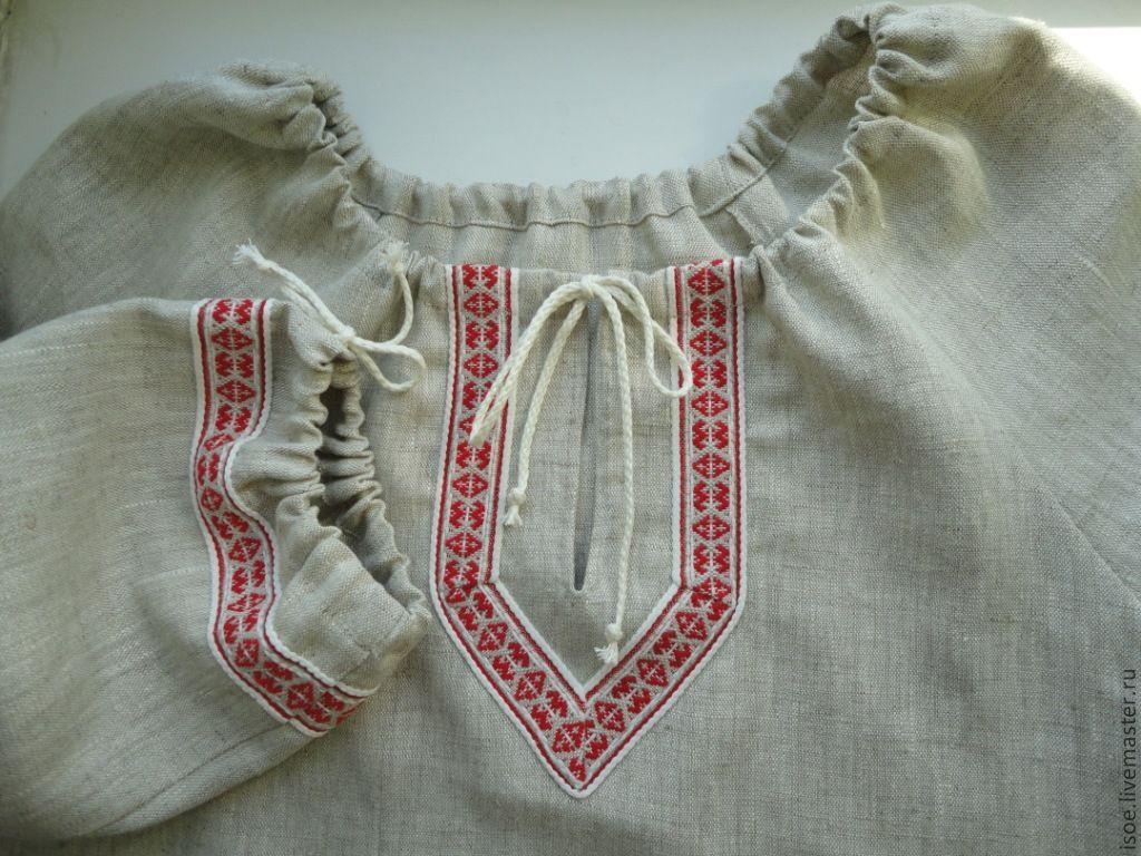 Женская славянская рубаха своими руками 15