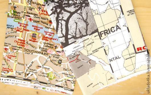 """Шитье ручной работы. Ярмарка Мастеров - ручная работа. Купить Ткань - хлопок """"Африка - Лондон"""". 2 вида. Handmade. Ткань"""