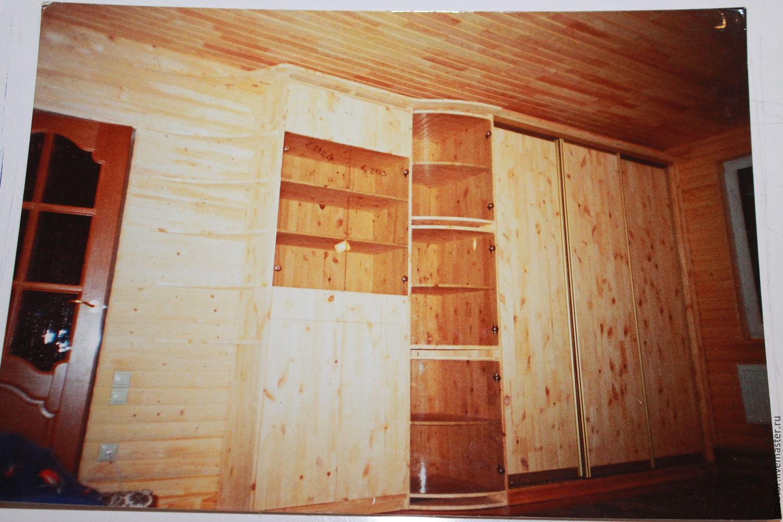 2004 год Мебельный комплекс из дерева, Шкафы, Москва, Фото №1