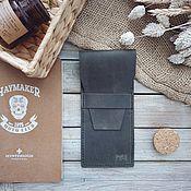 Сумки и аксессуары handmade. Livemaster - original item Handmade leather pencil case Cone Olive. Handmade.