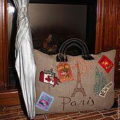 Для дома и интерьера ручной работы. Ярмарка Мастеров - ручная работа Подушка -чемодан путешественника. Handmade.