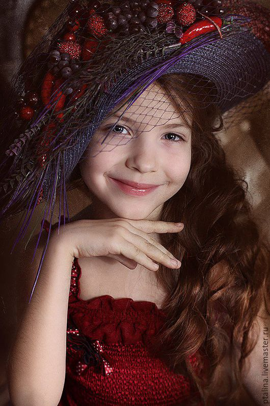 Детские карнавальные костюмы ручной работы. Ярмарка Мастеров - ручная работа. Купить шляпа для фотосессий Дикая Ягода. Handmade.