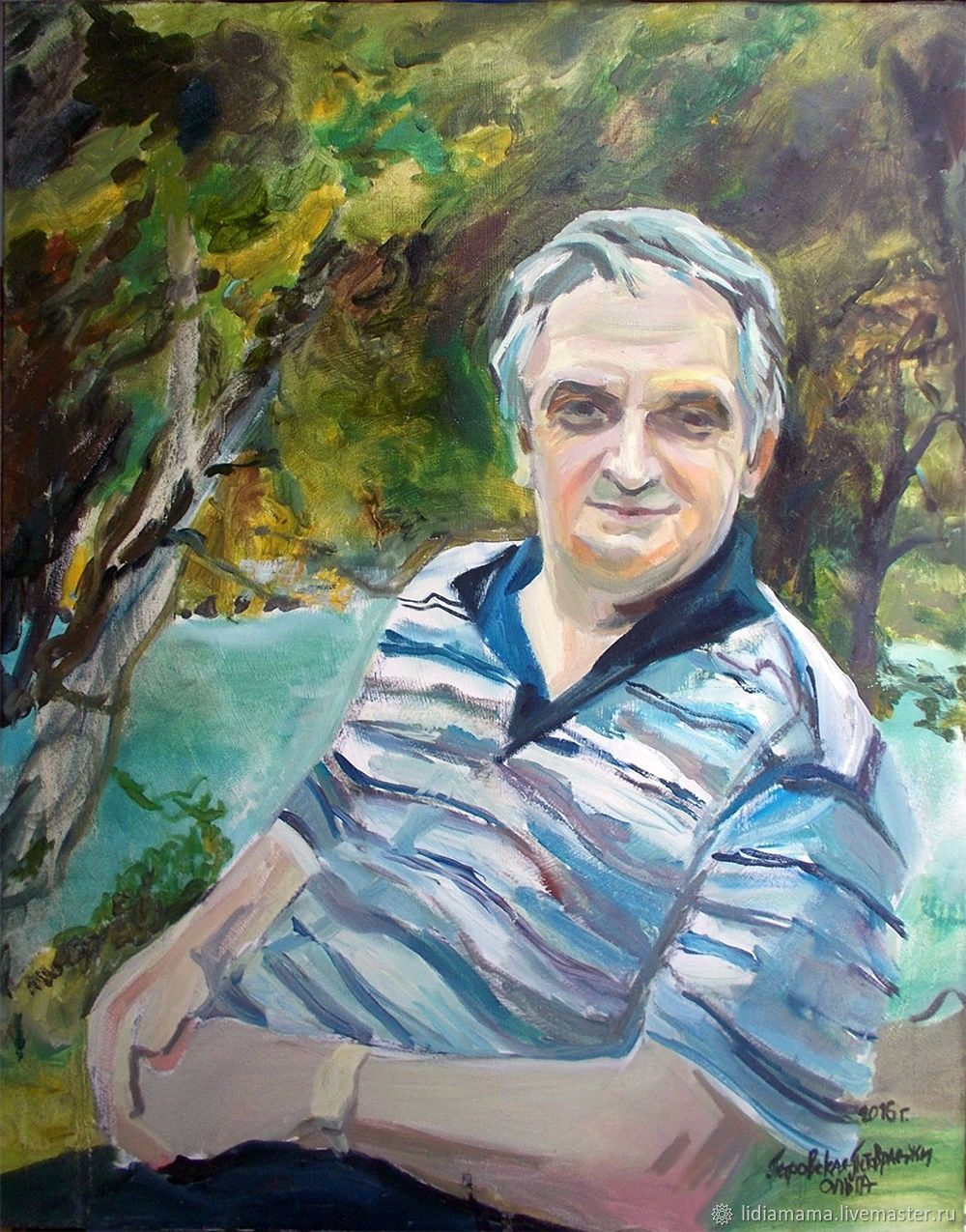 Portrait of the first President of Abkhazia Vladislav Ardzinba, Pictures, Moscow,  Фото №1