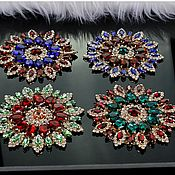 Материалы для творчества handmade. Livemaster - original item Beautiful rhinestone applique. Magic flower. Handmade.