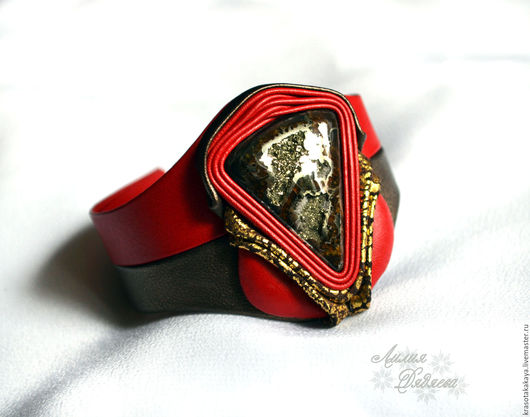 браслет из кожи, кожаный браслет, браслет с камнем, браслет ручной работы, из кожи браслет, стильный браслет, женский кожаный браслет,