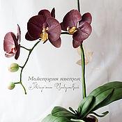 Цветы и флористика ручной работы. Ярмарка Мастеров - ручная работа Орхидея Фаленопсис из фоамирана. Handmade.