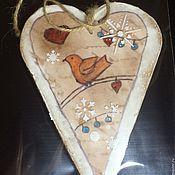 Сувениры и подарки ручной работы. Ярмарка Мастеров - ручная работа Пряничное сердце винтаж. Handmade.