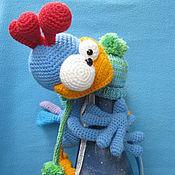 Материалы для творчества ручной работы. Ярмарка Мастеров - ручная работа Мастер-класс по вязанию игрушки Петушок Патрик. Handmade.