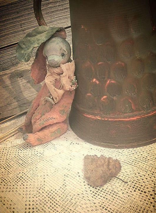 """Мишки Тедди ручной работы. Ярмарка Мастеров - ручная работа. Купить """"Травка-муравка"""" зайчик тедди-долл из мини коллекции """"Травяной сбор"""". Handmade."""