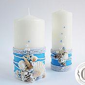 Свадебный салон ручной работы. Ярмарка Мастеров - ручная работа Свечи в морском стиле; семейный очаг в морском стиле. Handmade.