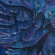 """Картины и панно ручной работы. Ярмарка Мастеров - ручная работа Картина маслом """"Птицы как северное сияние"""", авторская. картина. Handmade."""