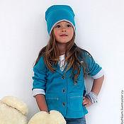 """Работы для детей, ручной работы. Ярмарка Мастеров - ручная работа Комплект """"Emerald"""" (жакет и шапка). Handmade."""