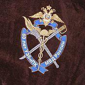 Одежда ручной работы. Ярмарка Мастеров - ручная работа Шоколадный махровый именной халат. Машинная вышивка. Handmade.