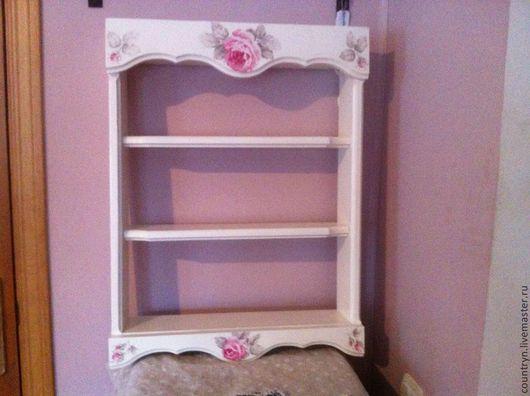 """Мебель ручной работы. Ярмарка Мастеров - ручная работа. Купить Полка """"Прованс"""". Handmade. Белый, мебель из дерева, акриловые краски"""