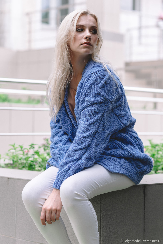 cardigans: Women's cardigan in blue, Cardigans, Yoshkar-Ola,  Фото №1