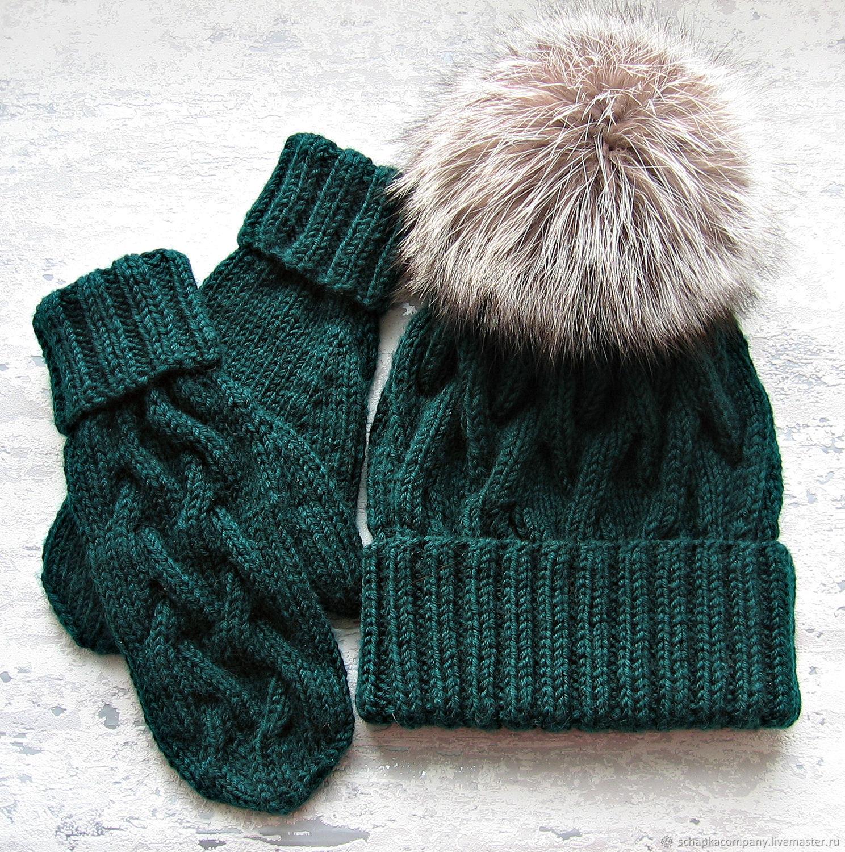 шапка варежки купить