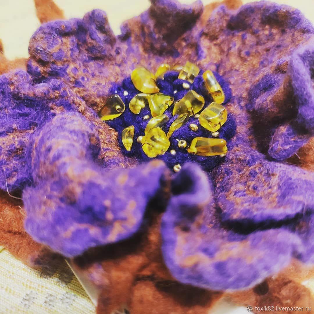 Брошь Сказочный цветок, Брошь-булавка, Москва,  Фото №1