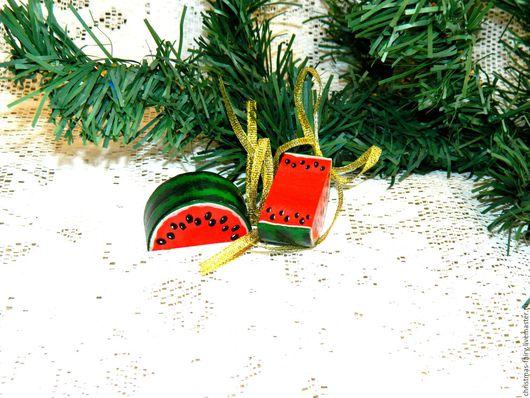 """Новый год 2017 ручной работы. Ярмарка Мастеров - ручная работа. Купить елочная игрушка """" арбузик"""" фруктики. Handmade. сувенир"""