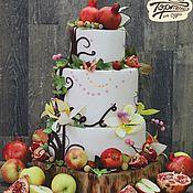 Подарки к праздникам ручной работы. Ярмарка Мастеров - ручная работа Торт Свадебный. Handmade.