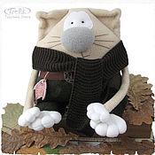 Куклы и игрушки ручной работы. Ярмарка Мастеров - ручная работа Мягкая игрушка-подушка - Кот рыбак Васька. Handmade.