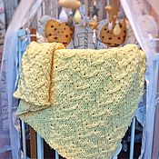 Детские пледы ручной работы. Ярмарка Мастеров - ручная работа Мягкий плюшевый плед в кроватку новорождённому. Handmade.