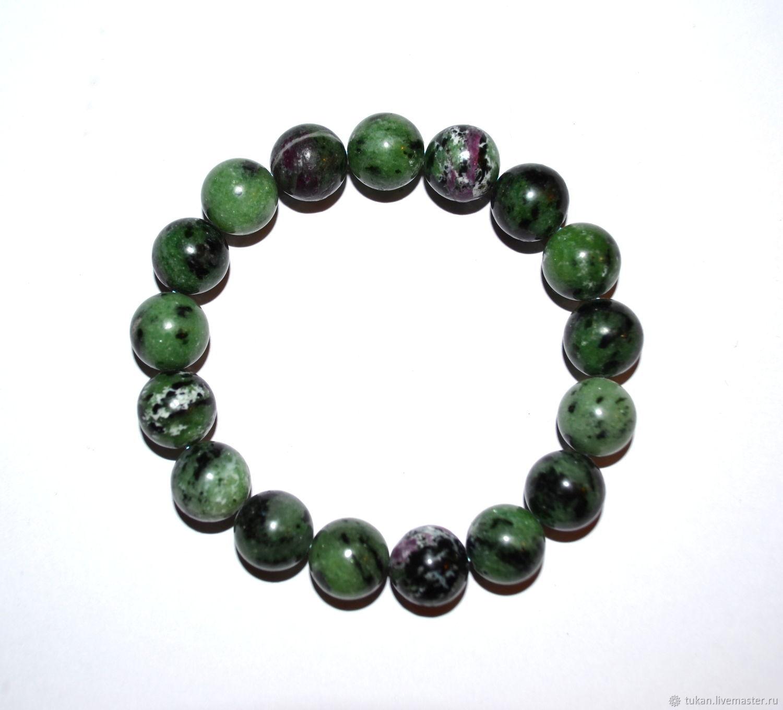 Bracelets Handmade Livemaster Bracelet Made Of Ruby Zoisite