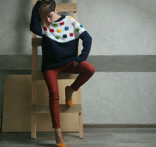 """Кофты и свитера ручной работы. Ярмарка Мастеров - ручная работа. Купить Свитер """"Fashion #1"""". Handmade. Подиум, лофт, шерсть"""