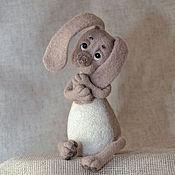 Куклы и игрушки ручной работы. Ярмарка Мастеров - ручная работа Валяная игрушка заяц «Афоня». Handmade.