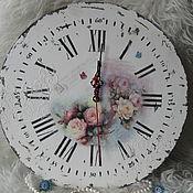 Для дома и интерьера handmade. Livemaster - original item Watch Roses shabby. Handmade.