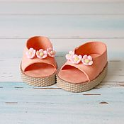 Куклы и игрушки handmade. Livemaster - original item Clothes for dolls: open toe shoes. Handmade.
