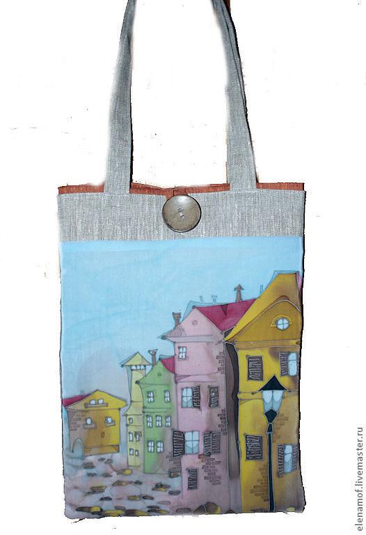 Женские сумки ручной работы. Ярмарка Мастеров - ручная работа. Купить Сумка Амстердам. Handmade. Сумка, сумка из льна, лён