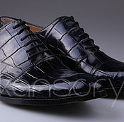 Обувь ручной работы handmade. Livemaster - original item Men`s shoes from crocodile skin. Handmade.
