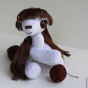 Куклы и игрушки ручной работы. Ярмарка Мастеров - ручная работа M&Ms - молочный шоколад  пони..  коллекционная игрушка. Handmade.