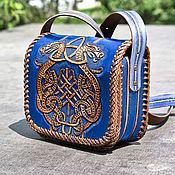 Сумки и аксессуары handmade. Livemaster - original item Leather bag with Celtic coat of arms. Handmade.
