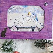 """Шкатулки ручной работы. Ярмарка Мастеров - ручная работа """"Зимняя кошка"""" шкатулка для украшений. Handmade."""