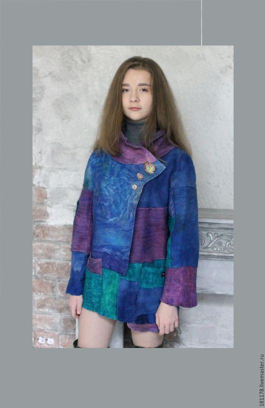 """Верхняя одежда ручной работы. Ярмарка Мастеров - ручная работа. Купить Куртка """"Фрагменты"""". Handmade. Разноцветный, ирландия"""