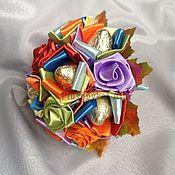 Цветы и флористика ручной работы. Ярмарка Мастеров - ручная работа Букет из конфет Радуга. Handmade.