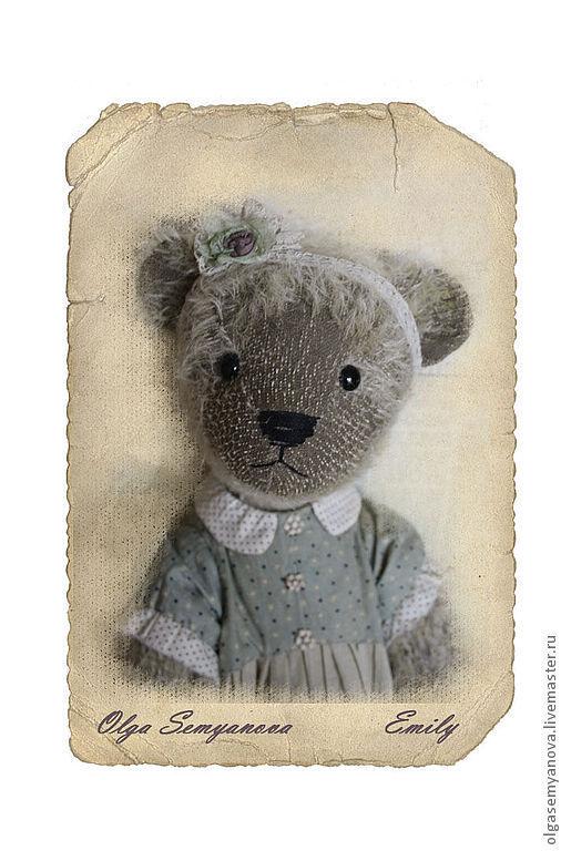 Мишки Тедди ручной работы. Ярмарка Мастеров - ручная работа. Купить Эмили. Handmade. Серый, Плюшевый мишка, солома