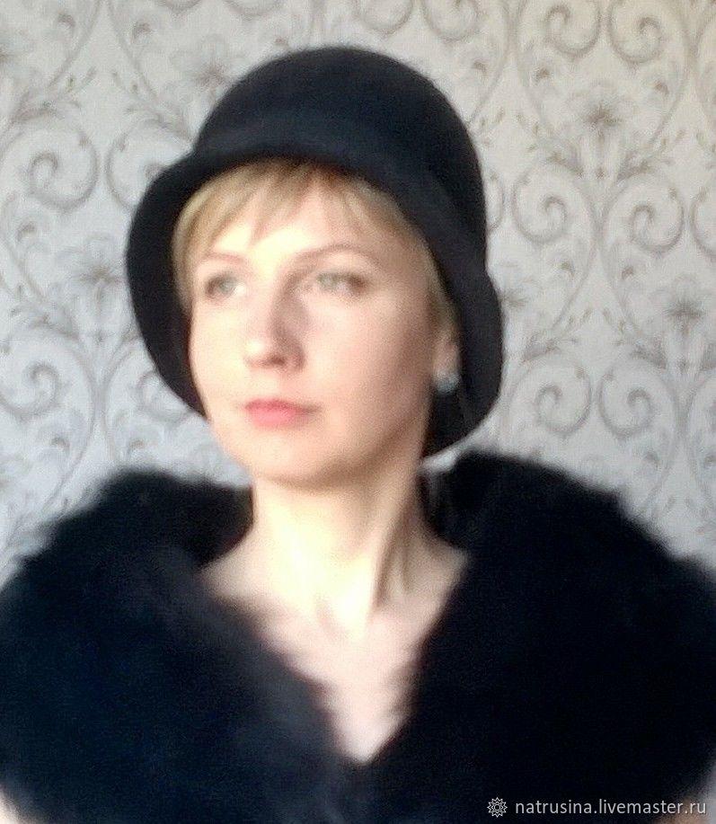 Шляпы ручной работы. Ярмарка Мастеров - ручная работа. Купить Шляпка валяная женская. Handmade. Кожа, шляпа женская