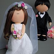 Куклы и игрушки handmade. Livemaster - original item Wedding dolls. Handmade.