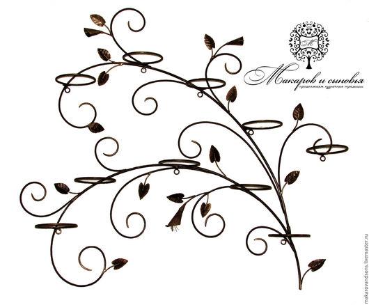 Подставки под цветы ручной работы. Ярмарка Мастеров - ручная работа. Купить Подставка для цветов Каллы на 10 колец, черная с золотом. Handmade.