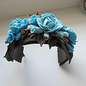 """Украшения ручной работы. Ярмарка Мастеров - ручная работа Браслет и серьги """"Шоколад и голубое небо"""". Handmade."""
