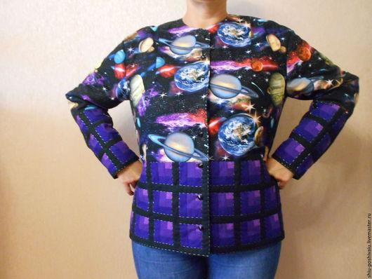 Пиджаки, жакеты ручной работы. Ярмарка Мастеров - ручная работа. Купить Жакет Космос. Handmade. Комбинированный, красиво, оригинальный подарок