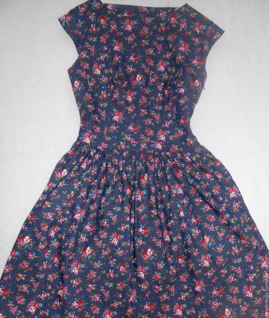 Платья ручной работы. Ярмарка Мастеров - ручная работа. Купить Джинсовое платье. Handmade. Летнее платье, платье сарафан
