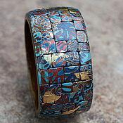 Украшения ручной работы. Ярмарка Мастеров - ручная работа браслет из полимерной глины этно мозаика 5. Handmade.