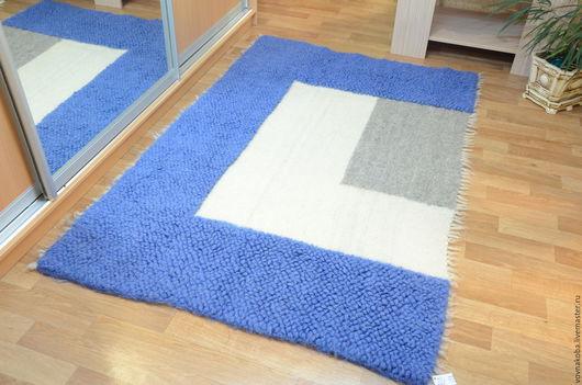 Текстиль, ковры ручной работы. Ярмарка Мастеров - ручная работа. Купить Коврик из овечьей шерсти KB035B. Handmade. комбинированный
