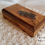 Для дома и интерьера handmade. Livemaster - original item Box for money Box for men With retro car Brawn Gift for men. Handmade.