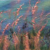 """Картины и панно ручной работы. Ярмарка Мастеров - ручная работа картина из шерсти """" Луговой ветер"""". Handmade."""